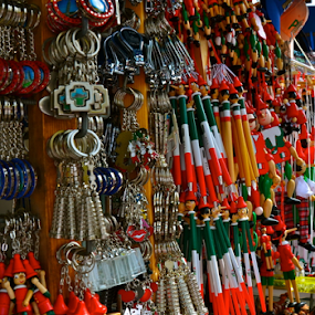 Trinkets from Pisa by Dave Feldkamp - Artistic Objects Other Objects ( pisa italy, red, green, toys, white, trinkets, pisa, souvenirs, junk,  )