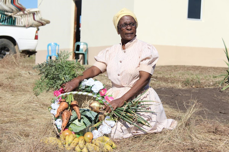 Ntombifikile Ngaleka supplies locals with her fresh vegetables.