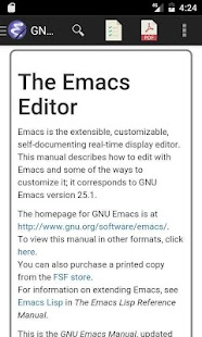 Linux Emacs Editor Manual - náhled