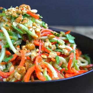 5 Minute Crunchy Asian Lime-Peanut Slaw