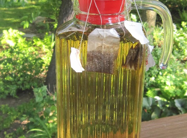 SUN TEA - This requires a glass pitcher or jar with a tight sealing...