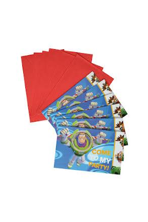 Toy Story inbjudningskort, 6 st