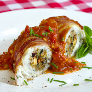 Stuffed Cod a la Empire, to celebrate Rock Recipes 4th Anniversary