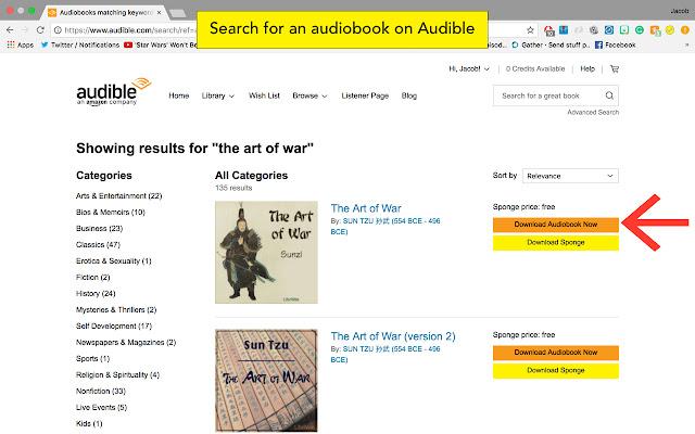 Sponge - free audiobook finder for audible