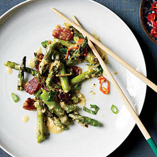 Singaporean Sautéed Asparagus with Ginger.