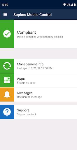 Sophos Mobile Control screenshot 1