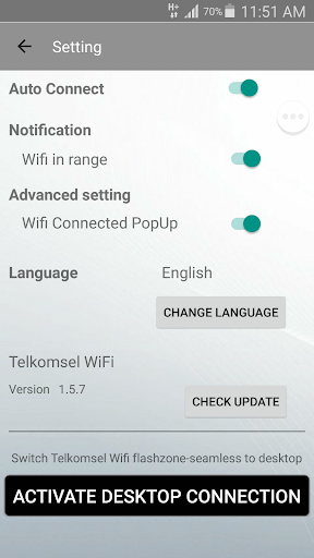 Telkomsel WiFi screenshot 1