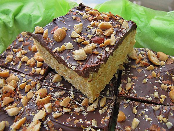 Nutty Chocolate Rice Krispies Treats in the #CookieJar