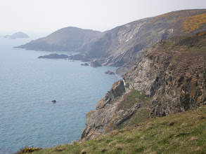 Photo: From Broad Haven to Solva (bkgrd: Pen Dinas and Green Scar)