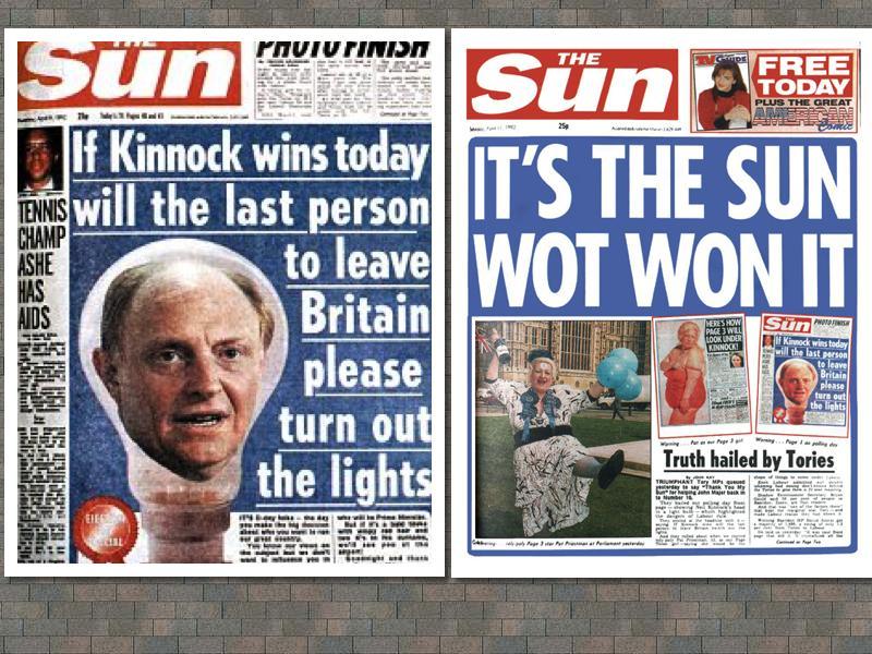 Murdoch's bastardisation of the 1992 UK general election…Oz 2013 scenario  very deja vu…   the interpretOr