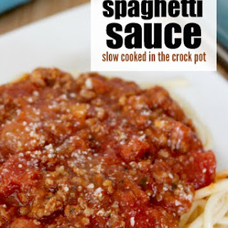 Crock Pot Spaghetti Sauce with meat