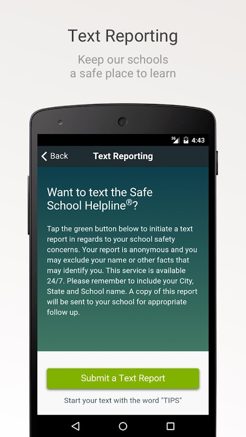 Safe School Helpline- screenshot