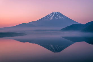Photo: Magic of Motosuko || 本栖湖の魔法  After a long night of shooting the stars and milky way around Lake Motosuko at the base of Mt. Fuji, I was greeted with a spectacular sunrise. Yet, the glass like appearance of the lake wouldn't last for long - within about 15 minutes of taking this photo, a slight breeze was blowing along the surface of the water, leaving enough ripples to disturb the perfect reflection. Even such a small amount of time can make a huge difference in the final image! More about that at today's blog post: http://lestaylorphoto.com/mt-fuji-on-lake-motosuko/  #japan #mtfuji #landscapephotography #travel #nikon