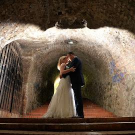 a tunnel of love by Sasa Rajic Wedding Photography - Wedding Bride & Groom ( nikon, love, wedding dress, novi sad, wedding photography, wedding photographer, wedding photos destination, wedding day, wedding, tunnel )