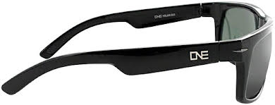 Optic Nerve ONE Timberline Polarized Sunglasses: Shiny Black with Polarized Smoke/Silver Flash Lens alternate image 0