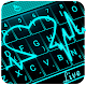 Live 3D Neon Blue Love Heart Keyboard Theme icon