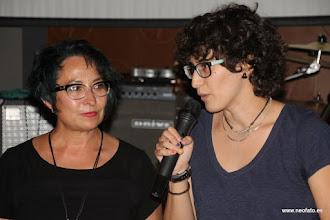 """Photo: 28J Huesca. 26.06.2015 Sandra Blasco y Amparo Bella. Presentación documental """"Transiciones Feministas"""""""