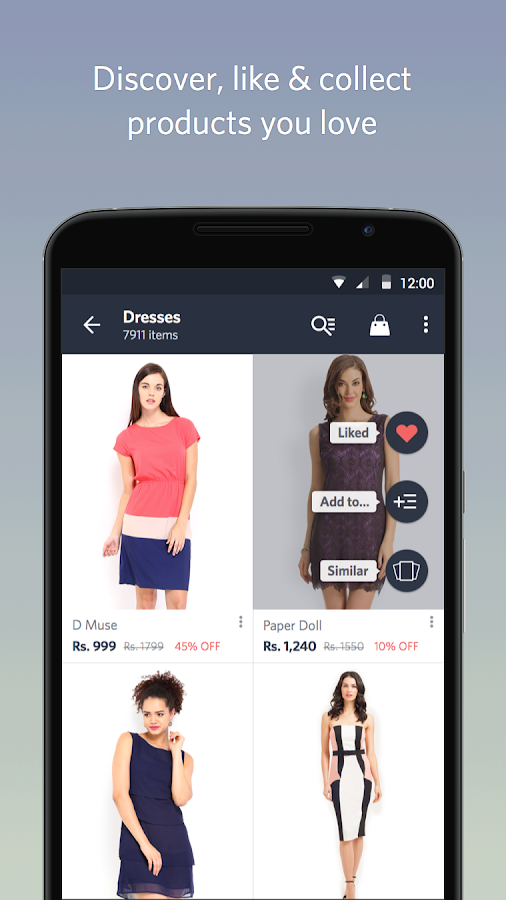 Google Men's Designer Clothing Online Myntra Fashion Shopping App