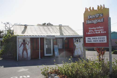 The Devil's Hangout Gift Shop in Hell, Grand Cayman.