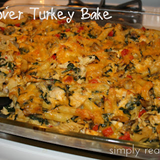 Leftover Turkey Pasta Bake
