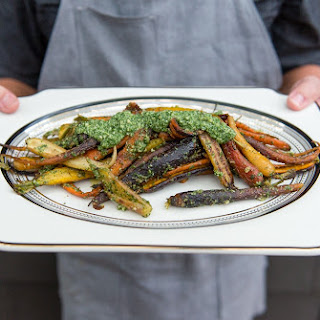 Roasted Carrots with Carrot Top Pesto Recipe