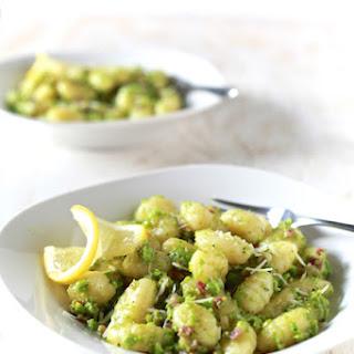Sweet Pea Pesto & Pancetta Gnocchi.