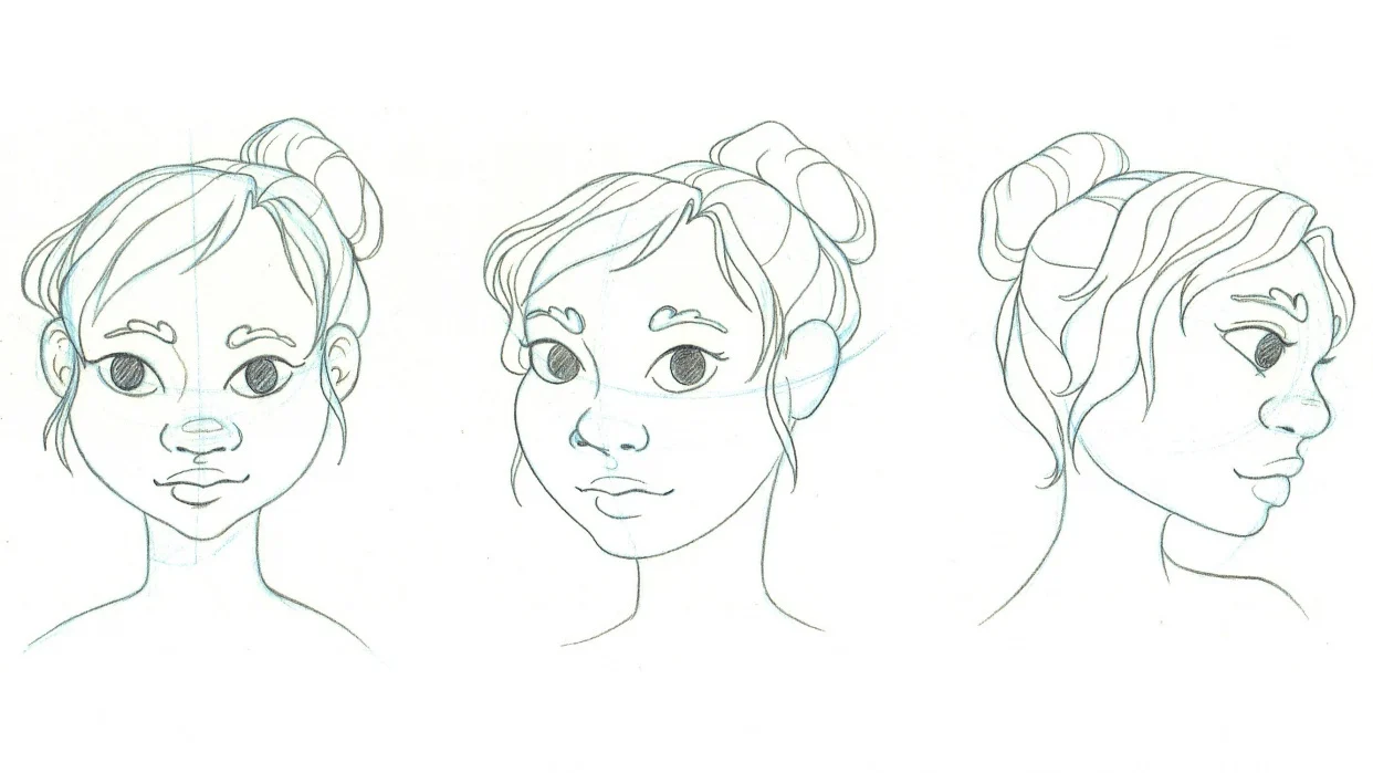 head from different angles