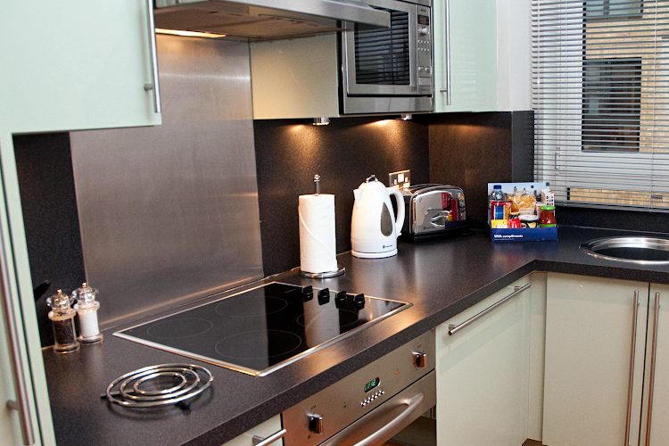Fully equipped kitchen at Pepys Street Apartments Tower Hill