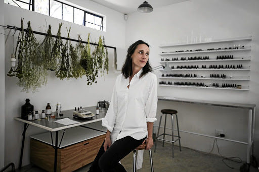Founder of Johannesburg artisanal perfumery Saint D'Ici Marie Aoun creates a range of natural perfumes without the use of synthetic materials.