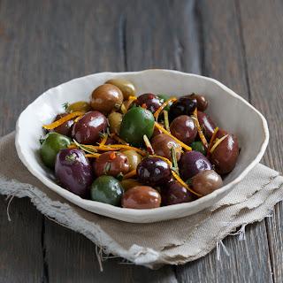 Citrus-Marinated Olives.