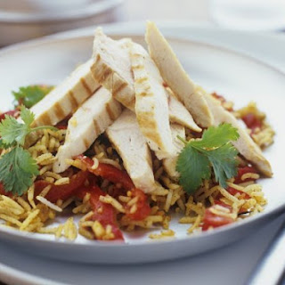Healthy Chicken and Rice Salad.
