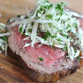 Sear-Roasted Beef Tenderloin with Fresh-Grated Horseradish