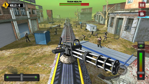 Train shooting - Zombie War - screenshot