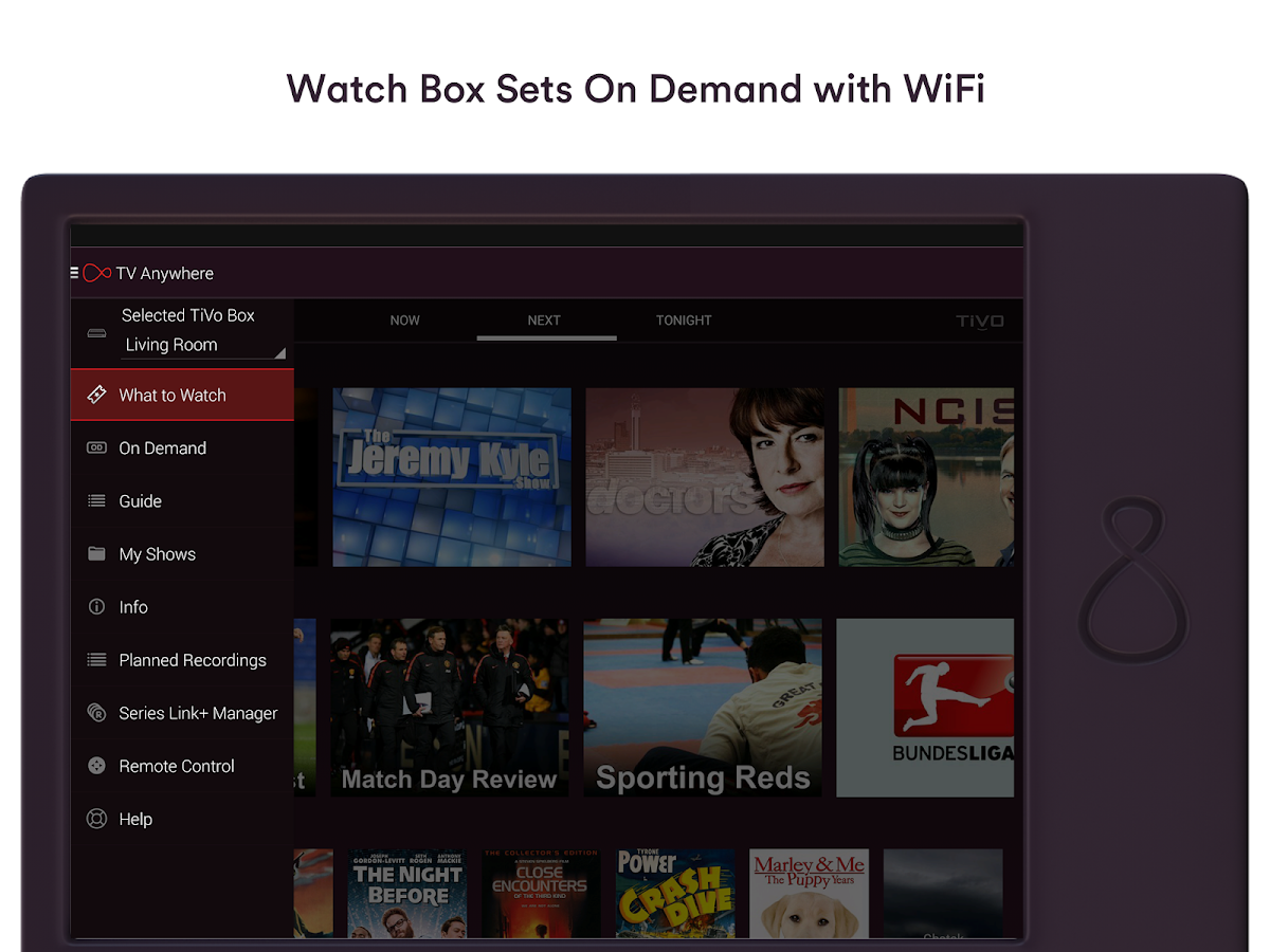 Virgin TV Anywhere– captura de ecrã