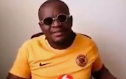 A Kaizer Chiefs fan at the