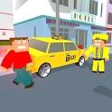 City Bricks vs Craft Taxi SIM icon