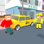 City Bricks vs Craft Taxi SIM Icon