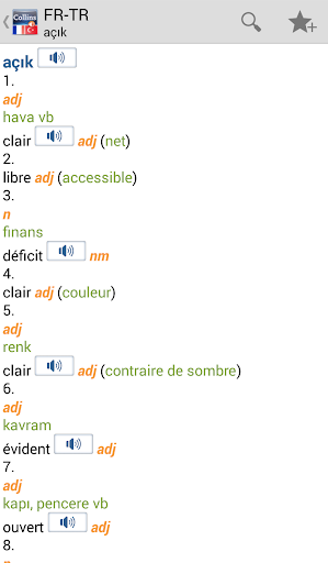 FrenchTurkish Dictionary T