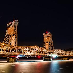 Stillwater Lift Bridge by Jeremy Jordan - Buildings & Architecture Bridges & Suspended Structures ( minnesota, stillwater, long exposure, bridge, nikon )