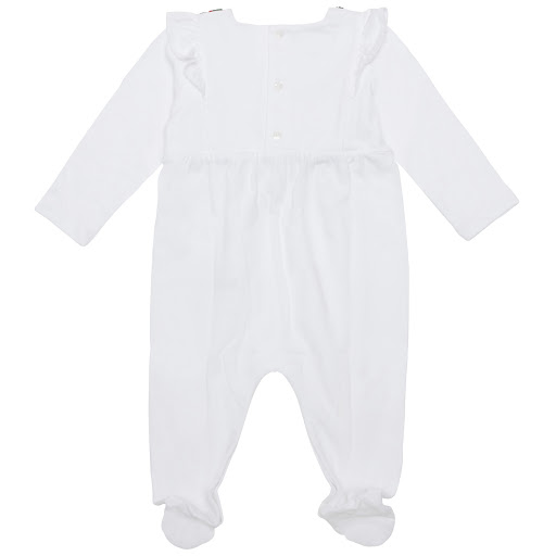 Thumbnail images of Gucci Web Bow Babysuit
