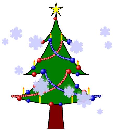 Christmas tree with balls, ...