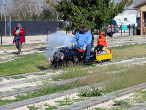 Photo: Donna and Pete Greene with the grandson riding.    HALS Chili Fest Meet 2014-0227 RPW