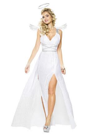Dräkt, vit ängel