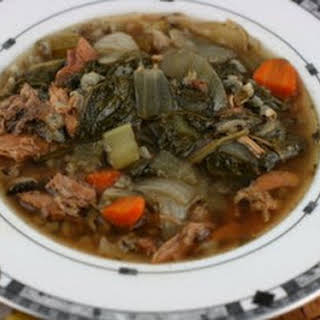 CrockPot Turkey and Wild Rice Soup.