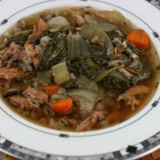 CrockPot Turkey and Wild Rice Soup.
