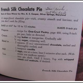 Amanda's French Silk Pie