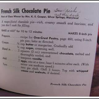 Amanda's French Silk Pie.