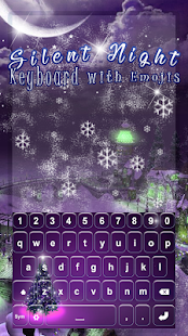 Silent Night Keyboard with Emojis - náhled