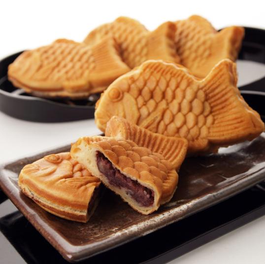 Taiyaki, pastel japonés con forma de pez.