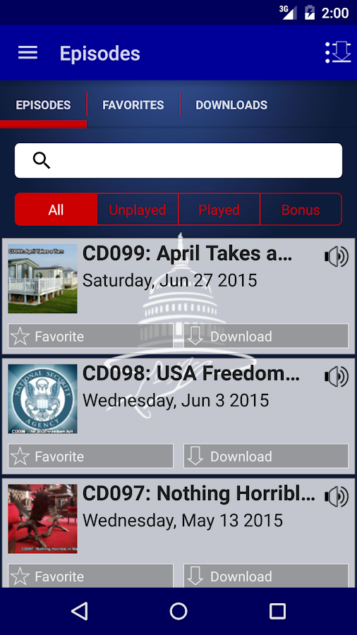 Congressional Dish- screenshot